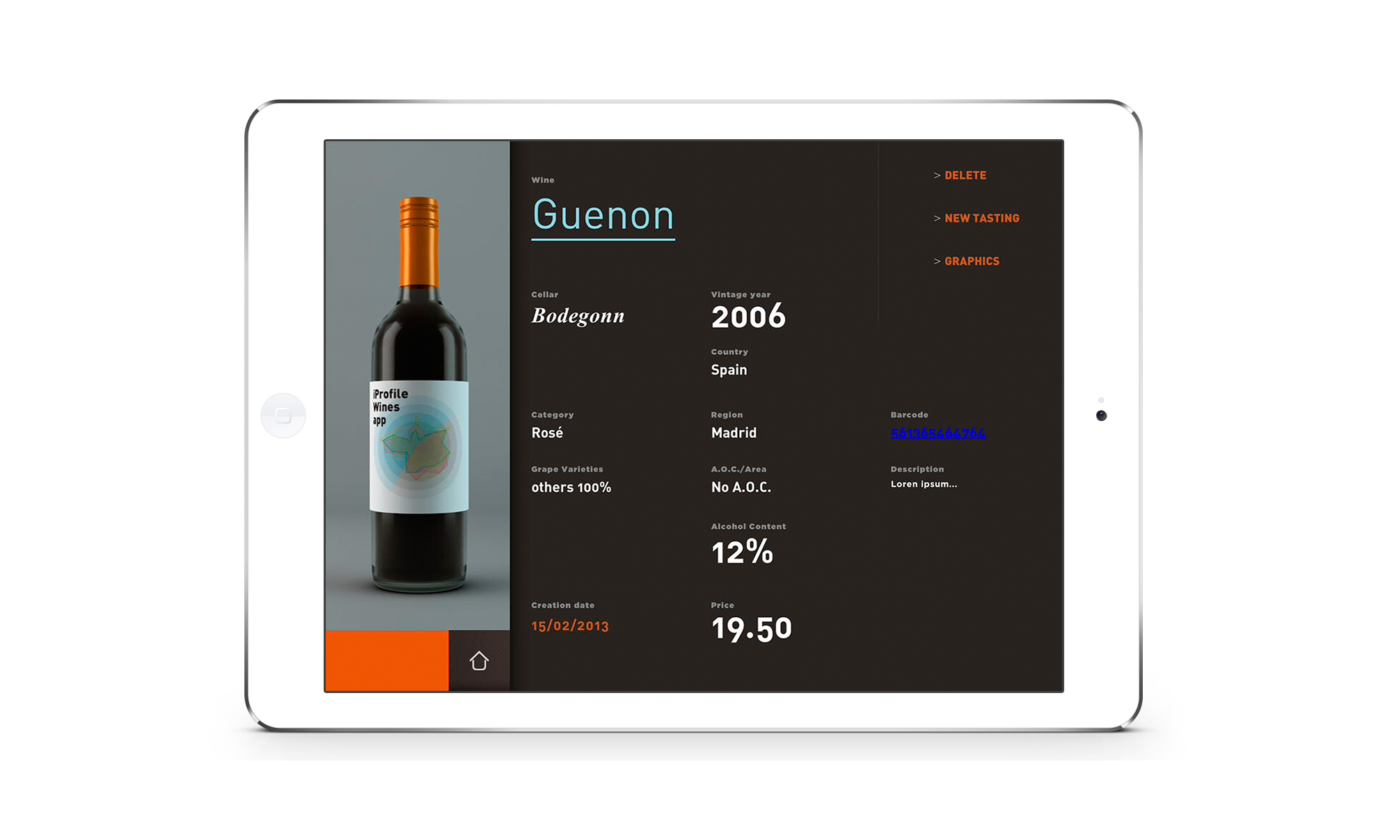 iProfile Wines: desarrollo de apps para iPad con bouquet